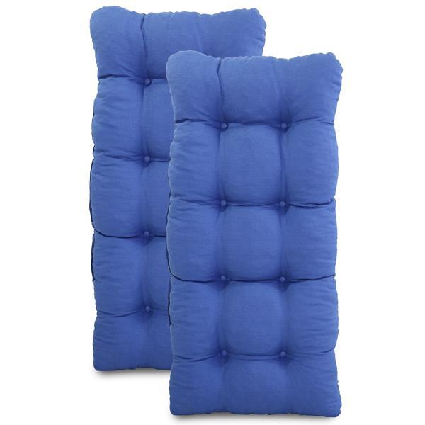 Kit 2 Almofadas Para Cadeiras de Fibra Azul