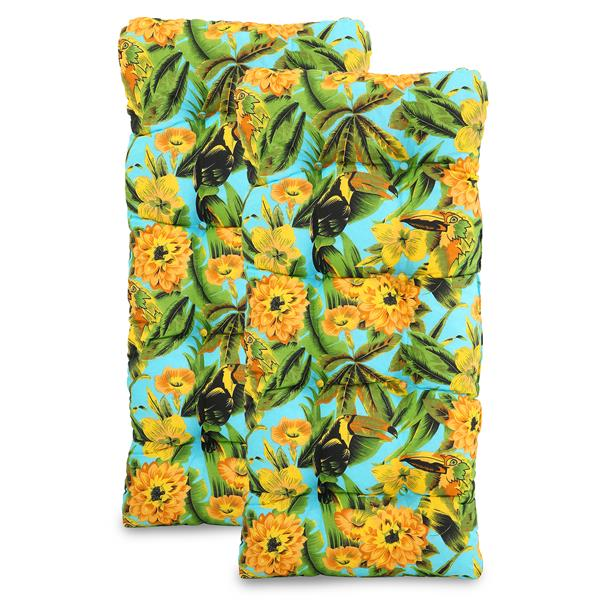 Kit 2 Almofadas Para Cadeiras de Fibra Flor Amarela