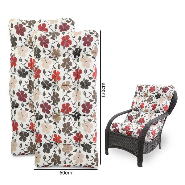 Kit 2 Almofadas Para Cadeiras de Fibra Flores Hibiscos