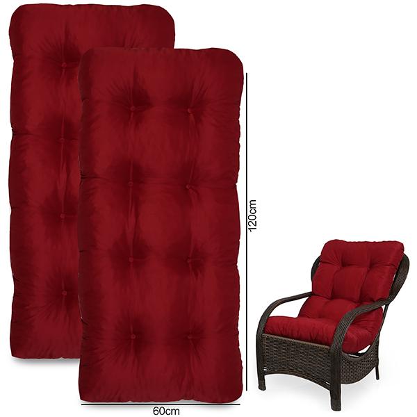 Kit 2 Almofadas Para Cadeiras de Fibra Lisas