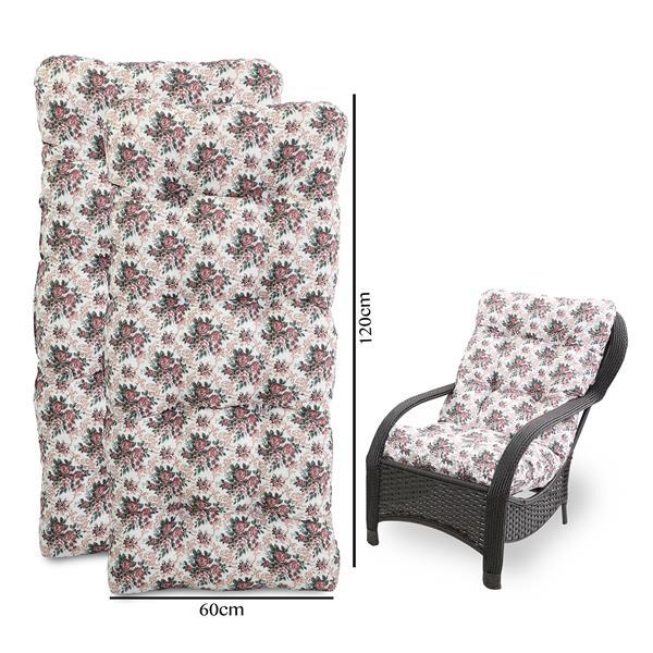 Kit 2 Almofadas Para Cadeiras de Fibra Mini Rosa