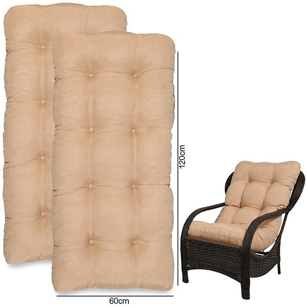 Kit 2 Almofadas Para Cadeiras de Fibra Nude