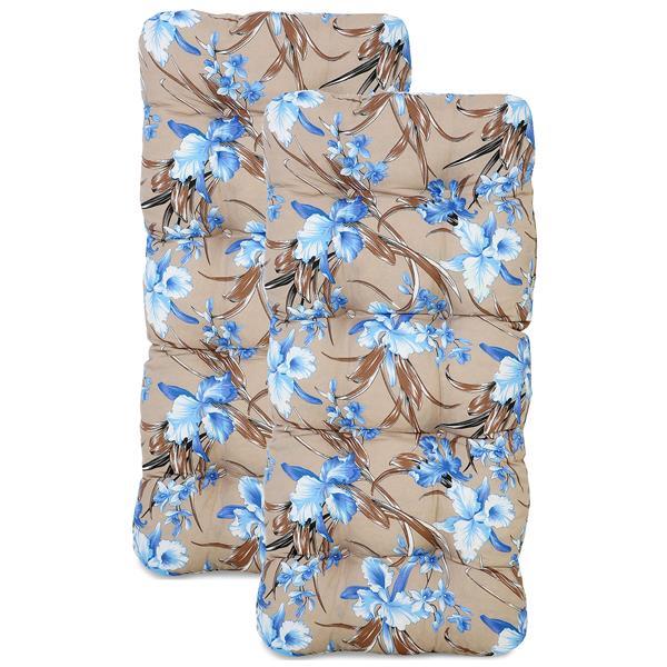 Kit 2 Almofadas Para Cadeiras de Fibra Orquídea Azul