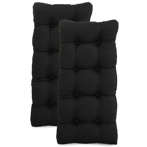 Kit 2 Almofadas Para Cadeiras de Fibra Preta