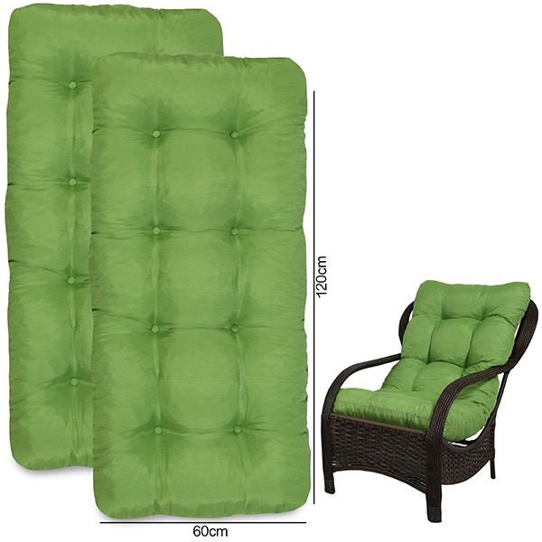 Kit 2 Almofadas Para Cadeiras de Fibra Verde