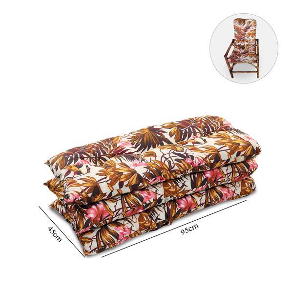 Kit 3 Almofadas P/ Cadeiras de Bambu e Vime Folhagem Outono