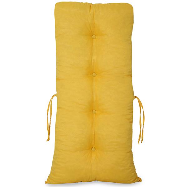 Kit 3 Almofadas Para Cadeiras de Bambu e Vime Amarela
