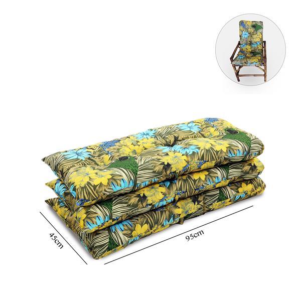 Kit 3 Almofadas Para Cadeiras de Bambu e Vime Araras