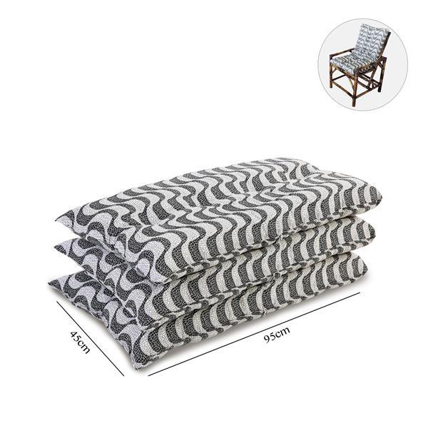 Kit 3 Almofadas Para Cadeiras de Bambu e Vime Copacabana