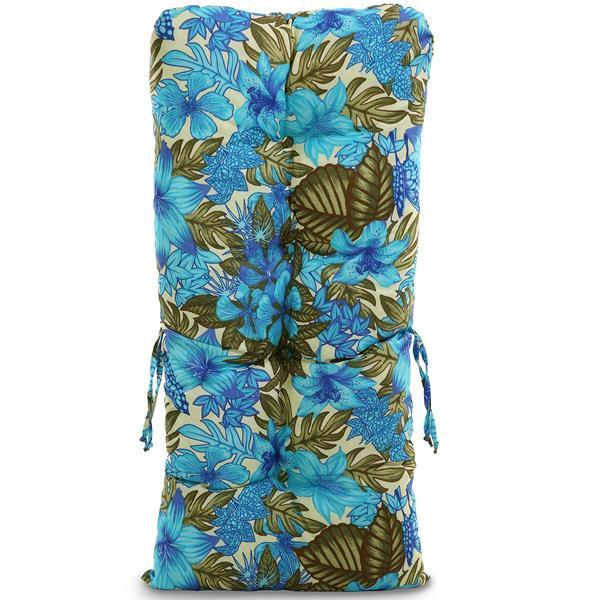 Kit 3 Almofadas Para Cadeiras de Bambu e Vime Flor Azul