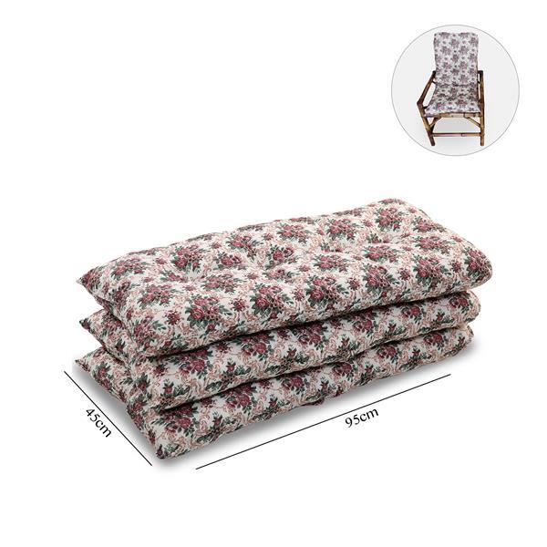 Kit 3 Almofadas Para Cadeiras de Bambu e Vime Mini Rosa