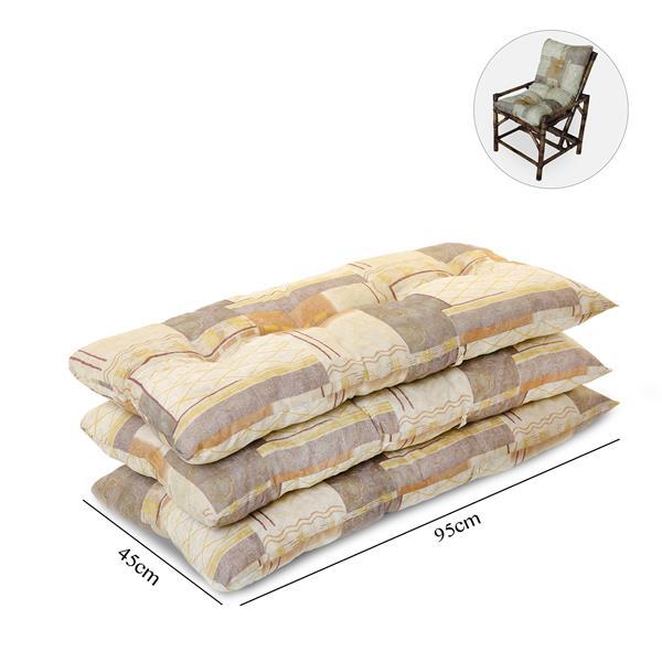 Kit 3 Almofadas Para Cadeiras de Bambu e Vime Retalho Bege