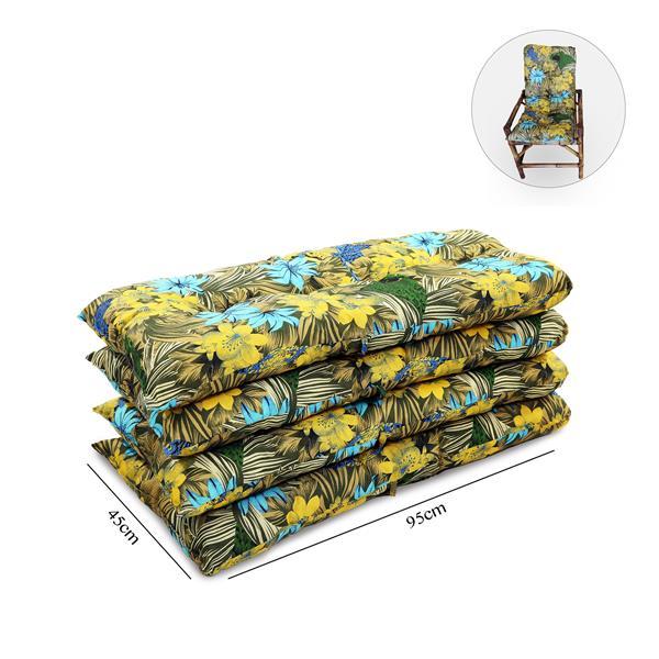 Kit 4 Almofadas Para Cadeiras de Bambu e Vime Araras