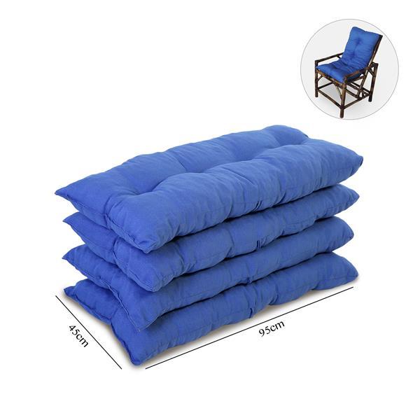 Kit 4 Almofadas Para Cadeiras de Bambu e Vime Azul