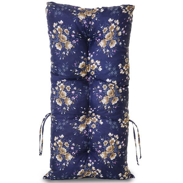 Kit 4 Almofadas Para Cadeiras de Bambu e Vime Azul Florida