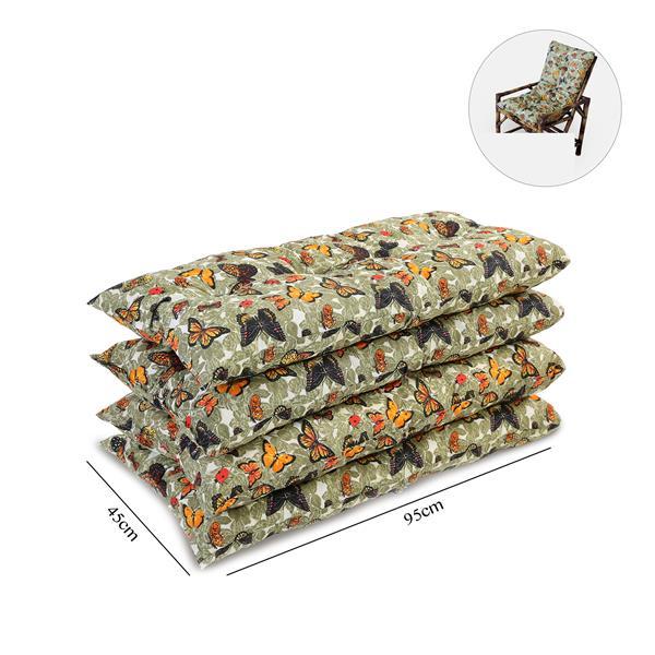 Kit 4 Almofadas Para Cadeiras de Bambu e Vime Borboletas