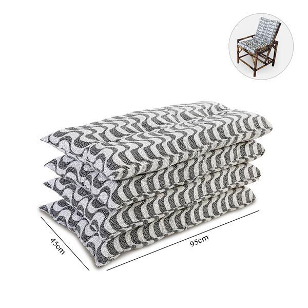 Kit 4 Almofadas Para Cadeiras de Bambu e Vime Copacabana