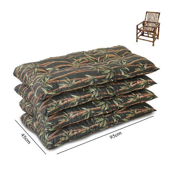 Kit 4 Almofadas Para Cadeiras de Bambu e Vime Estampadas