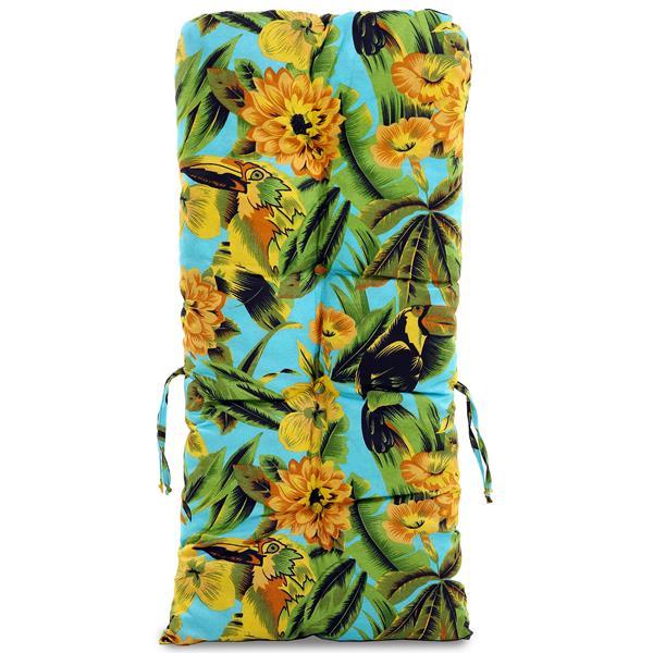 Kit 4 Almofadas Para Cadeiras de Bambu e Vime Flor Amarela