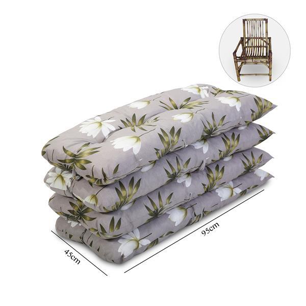 Kit 4 Almofadas Para Cadeiras de Bambu e Vime Heradia Musgo