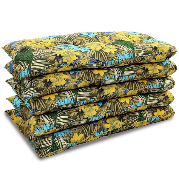 Kit 5 Almofadas Para Cadeiras de Bambu e Vime Araras