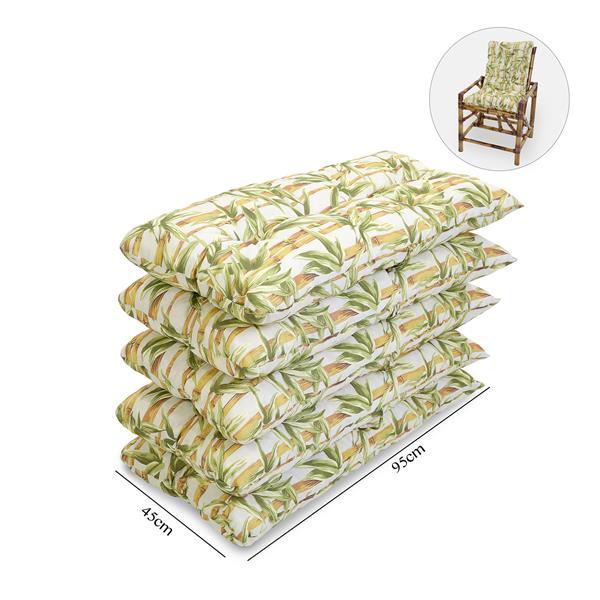 Kit 5 Almofadas Para Cadeiras de Bambu e Vime Bambu Claro