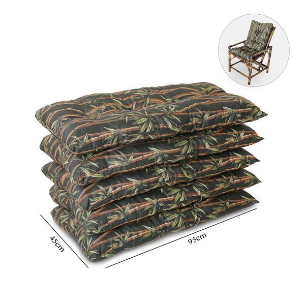 Kit 5 Almofadas Para Cadeiras de Bambu e Vime Bambu Escuro
