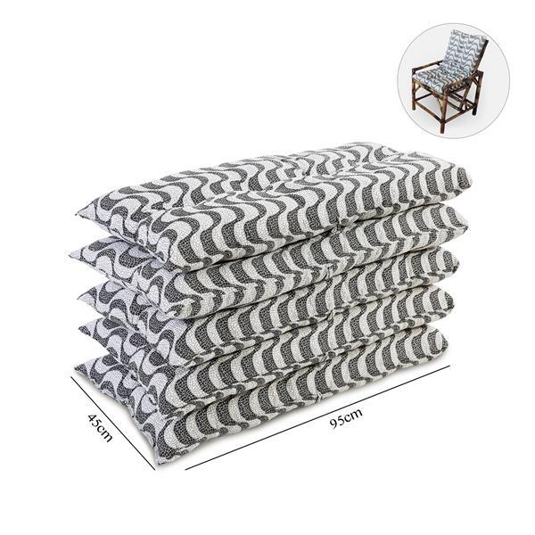 Kit 5 Almofadas Para Cadeiras de Bambu e Vime Copacabana