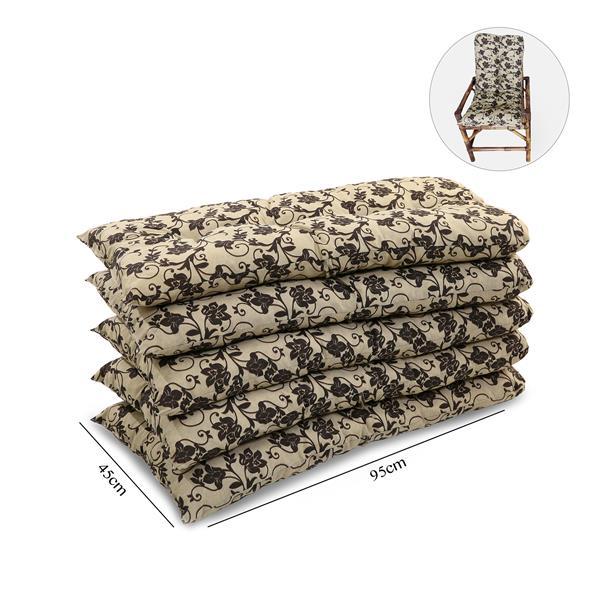 Kit 5 Almofadas Para Cadeiras de Bambu e Vime Flor Marrom