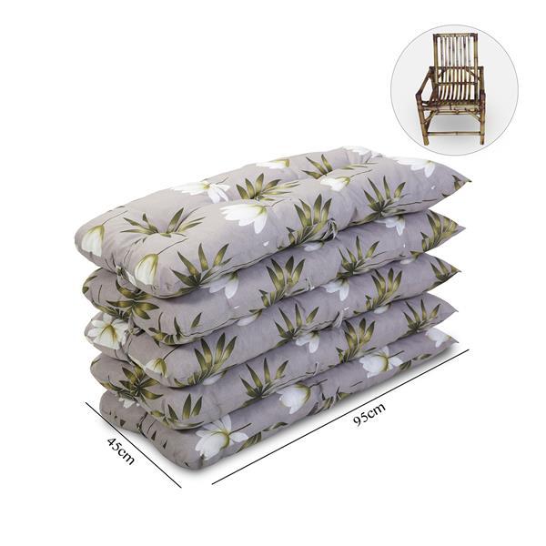 Kit 5 Almofadas Para Cadeiras de Bambu e Vime Heradia Musgo