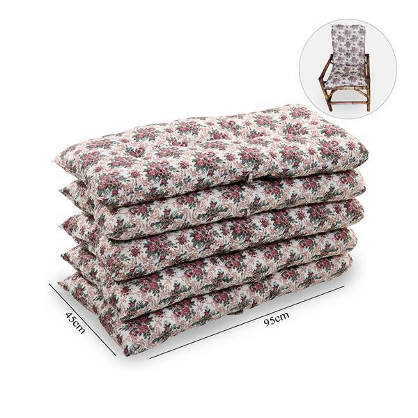 Kit 5 Almofadas Para Cadeiras de Bambu e Vime Mini Rosa