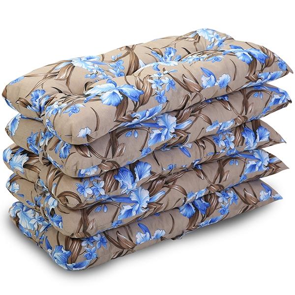 Kit 5 Almofadas Para Cadeiras de Bambu e Vime Orquídea Azul