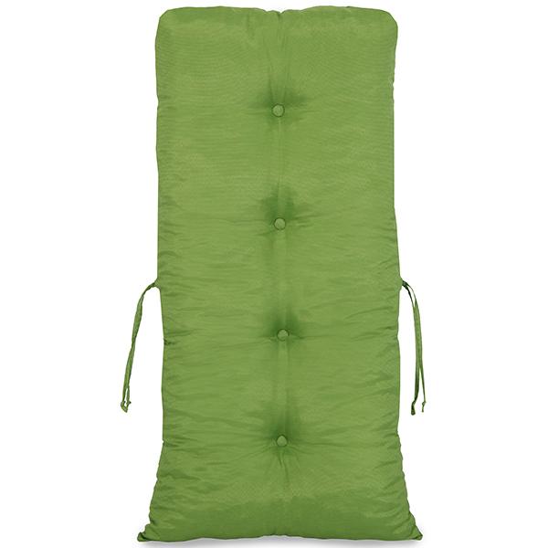 Kit Cadeiras de Bambu 2 Lugares com Almofadas Verde