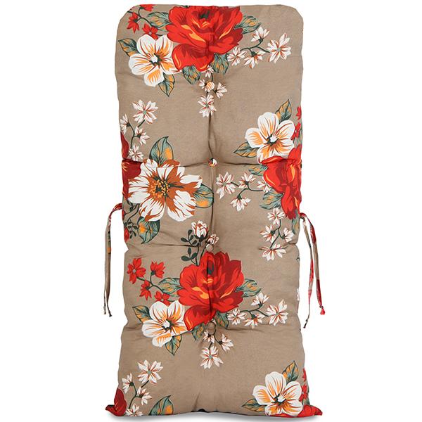 Kit Cadeiras de Bambu 2 Lugares com Almofadas Zenaide Vermelho