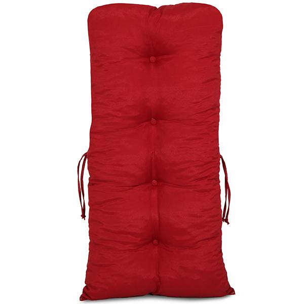 Kit Cadeiras de Bambu 3 Lugares com Almofadas Vermelha