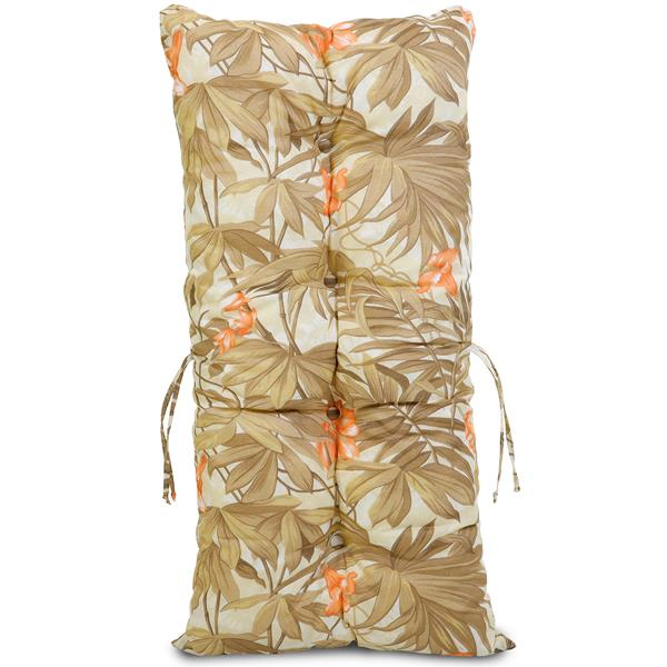 Kit Cadeiras de Bambu 4 Lugares com Almofadas Folhagem Claro