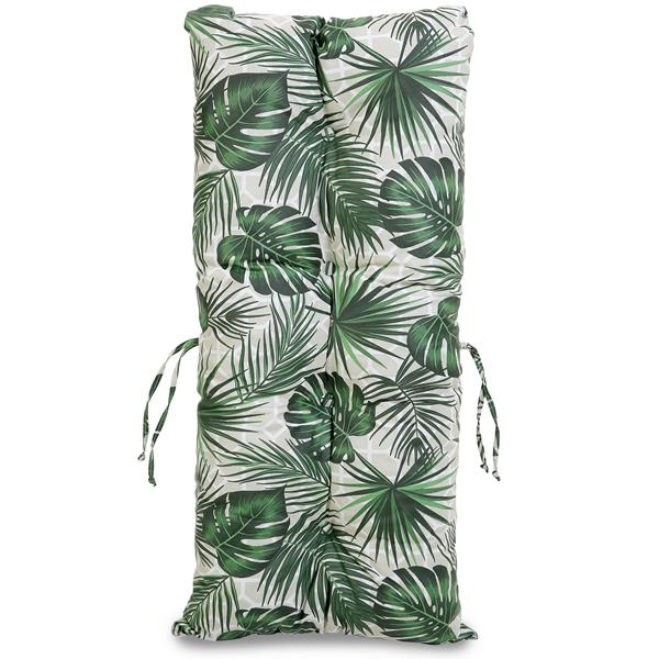 Kit Sofá de Bambu 2 Lugares com Almofadas Impermeáveis Folha