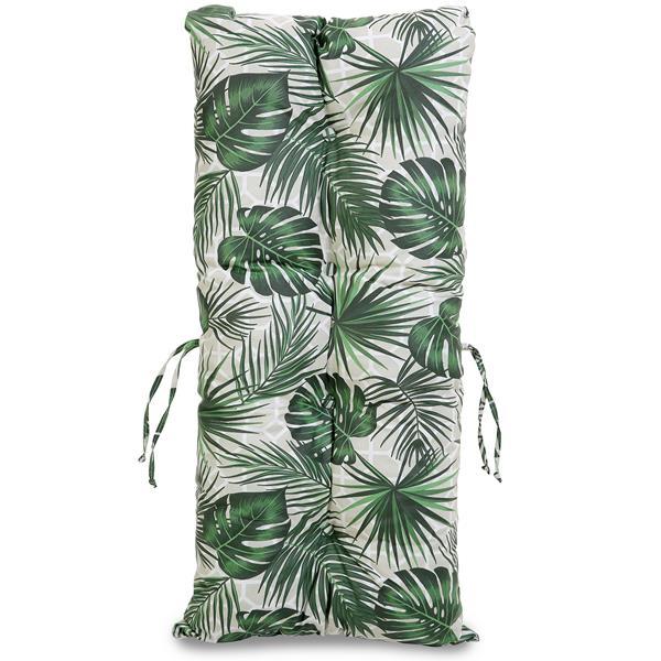 Kit Sofá de Bambu 3 Lugares com Almofadas Impermeáveis Folha