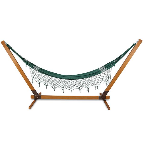 Suporte De Madeira Com Rede de Descanso Verde
