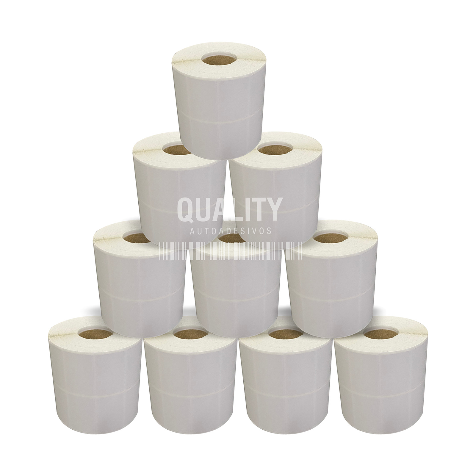 10 Rolos Etiqueta Térmica 40x25mm 2 Colunas