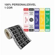 Etiquetas Adesivas Lacre Segurança Delivery iFood Alimentos Personalizada