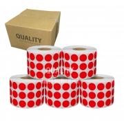 4 Rolos Etiqueta Bolinha Pequena 1,6x1,6cm (20000 etiq)
