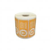 Etiquetas Adesivas Lacre Segurança Delivery iFood Alimentos Laranja