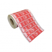 1000 Etiquetas Lacre Delivery iFood Rappi Vermelha