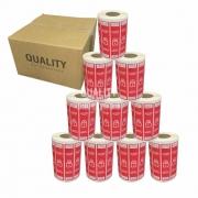 10 Rolos Etiqueta Lacre Segurança Delivery iFood Alimentos