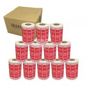 Kit 12000 Etiquetas Lacre Delivery iFood Rappi Vermelha
