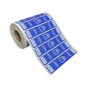 Etiquetas Adesivas Lacre Segurança Delivery iFood Alimentos Azul