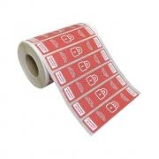 Etiquetas Adesivas Lacre Segurança Delivery iFood Alimentos Vermelha