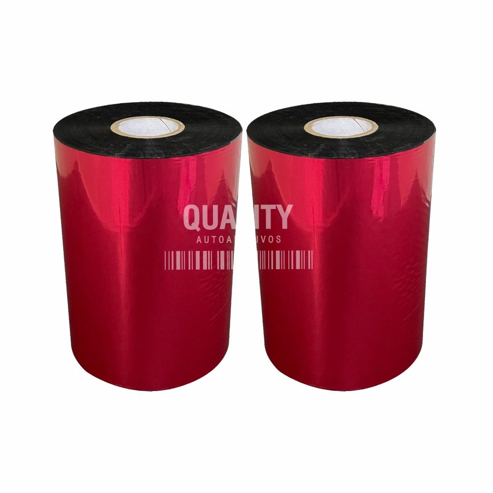 Kit 2 Ribbon G50 Cera Premium 110x450 Datamax Zebra  - Etiqueta Certa