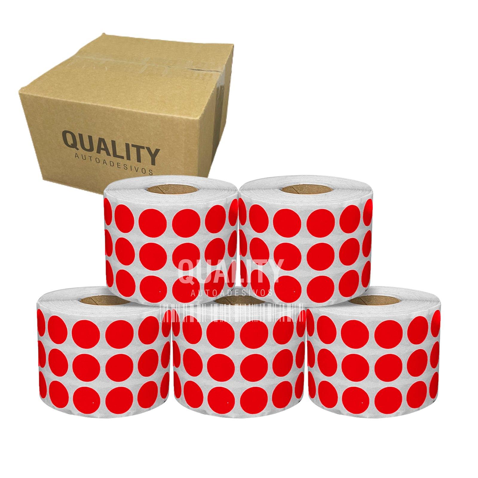 4 Rolos Etiqueta Bolinha Pequena 16x16mm (20.000 etiq)  - Etiqueta Certa